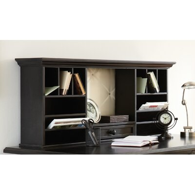 Whitman 20 H x 48 W Desk Hutch Finish: Black