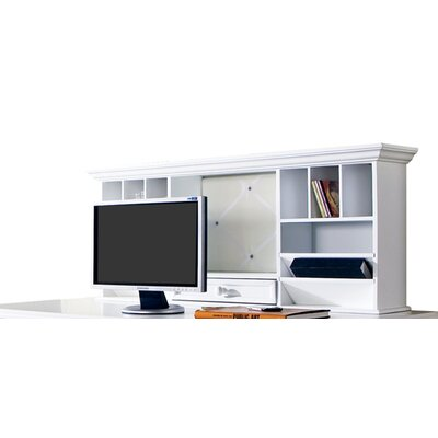 Whitman 20 H x 48 W Desk Hutch Finish: White
