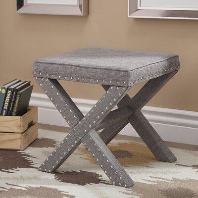 Bavaria X-Base Nailhead Ottoman Upholstery: Gray