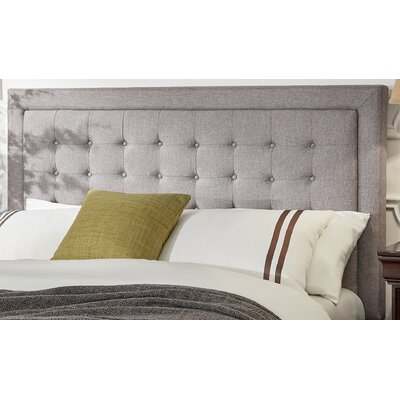 Woodside Upholstered Panel Headboard Size: Queen, Upholstery: Gray