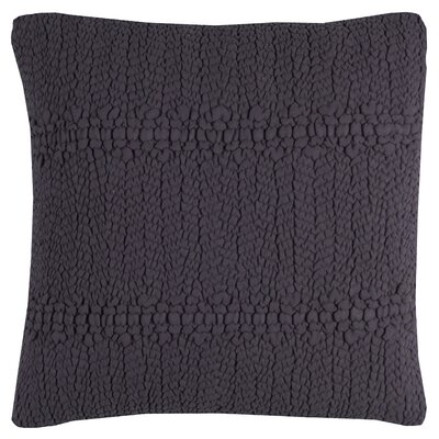 Jeffrey Cotton Throw Pillow Color: Navy