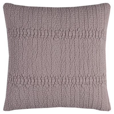Jeffrey Cotton Throw Pillow Color: Dusty/Pink