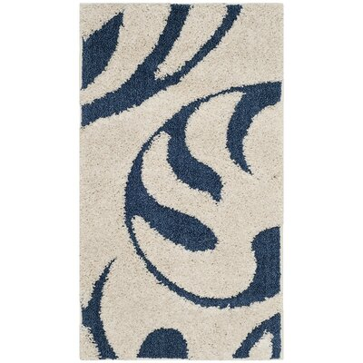 Diederich Blue Indoor Area Rug Rug Size: Rectangle 4 x 6