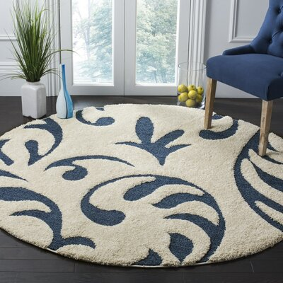 Brierwood Blue Indoor Area Rug Rug Size: Round 67