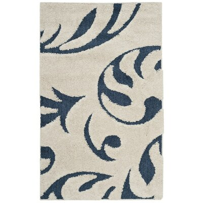 Diederich Blue Indoor Area Rug Rug Size: Rectangle 33 x 53