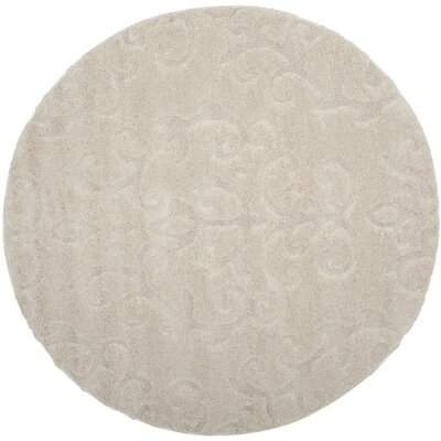 Brierwood Beige Indoor Area Rug Rug Size: Round 6'7