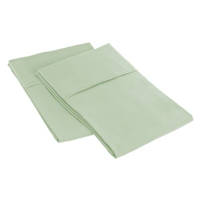 Sheatown Microfiber Solid Pillowcase Pair Size: Standard, Color: Mint