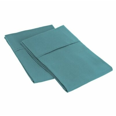 Sheatown Microfiber Solid Pillowcase Pair Size: Standard, Color: Teal