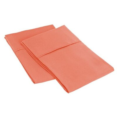 Sheatown Microfiber Solid Pillowcase Pair Size: King, Color: Coral