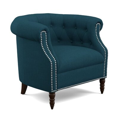 Huntingdon Barrel Chair Upholstery: Peacock Blue