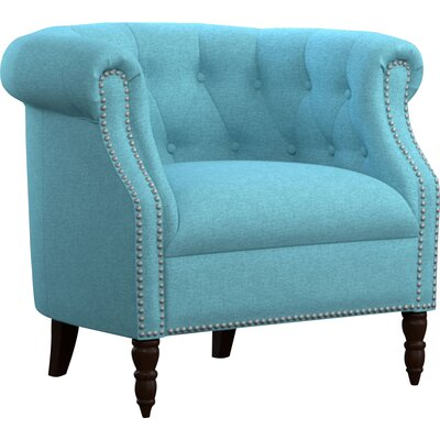 Huntingdon Barrel Chair Upholstery: Turquoise Blue