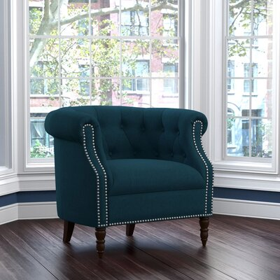 Huntingdon Barrel Chair Fabric: Peacock Blue