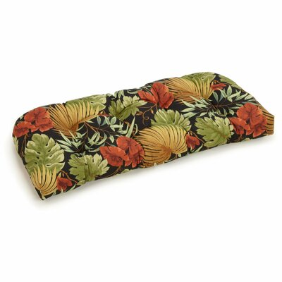 Floral Outdoor Bench Cushion