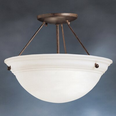 Erin 13 1-Light Semi Flush Mount Finish: Tannery Bronze