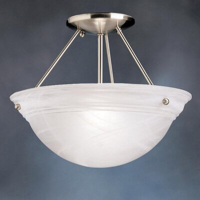 Erin 13 1-Light Semi Flush Mount Finish: Brushed Nickel