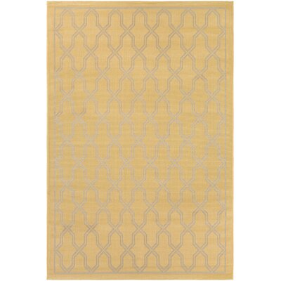 Arnot Gold/Cream Indoor/Outdoor Area Rug Rug Size: 4'11