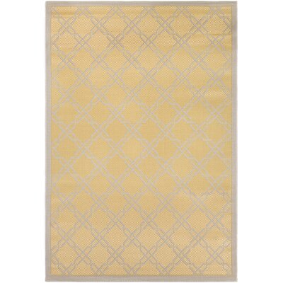 Arnot Gold/Cream Indoor/Outdoor Area Rug Rug Size: 311 x 55