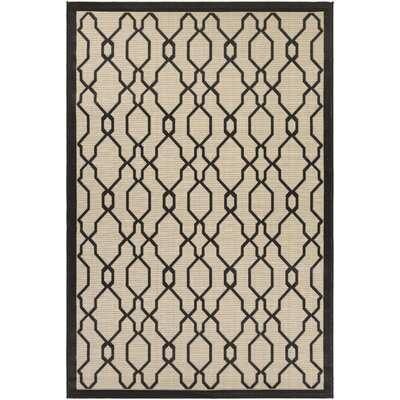 Arnot Cream/Black Indoor/Outdoor Area Rug Rug Size: Rectangle 311 x 55