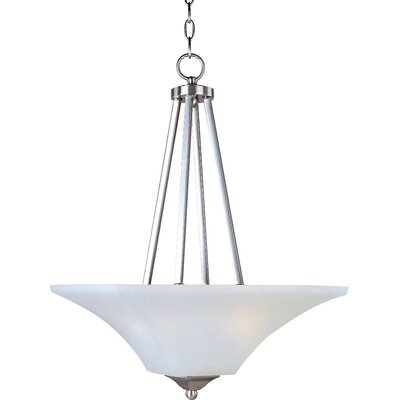 Pearson 2-Light Invert Bowl Pendant Finish: Satin nickel