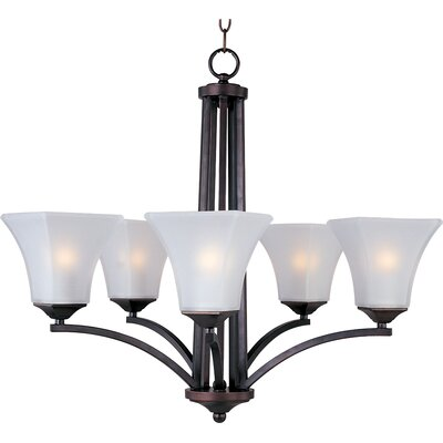 Pearson 5-Light Shaded Chandelier Finish: Oil rubbed bronze