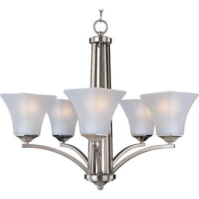 Pearson 5-Light Shaded Chandelier Finish: Satin nickel
