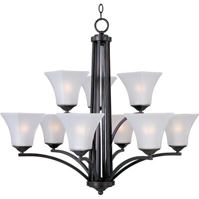 Bowdoin 9-Light Shaded Chandelier Finish: Oil rubbed bronze
