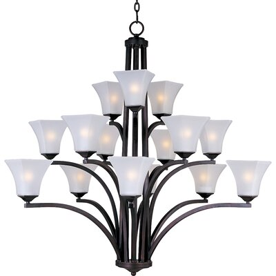 Pearson 15-Light Shaded Chandelier Finish: Oil rubbed bronze