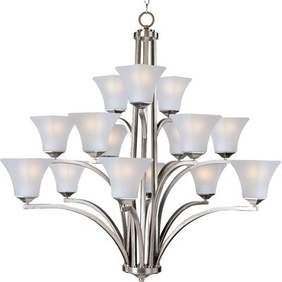 Pearson 15-Light Shaded Chandelier Finish: Satin nickel