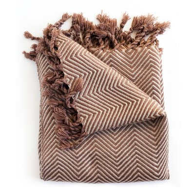 Trevorton Throw Blanket Color: Chocolate/Taupe