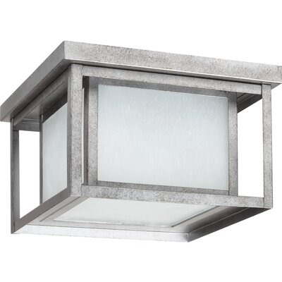 Hayner 2-Light Flush Mount Finish: Weathered Pewter