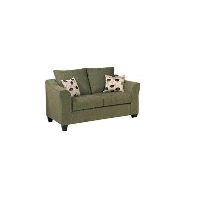 Serta Upholstery Oppenheim Loveseat Upholstery: Flyer Green