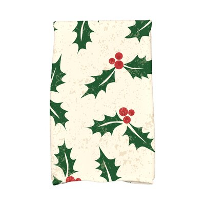 Briese Allover Holly Hand Towel Color: Cream