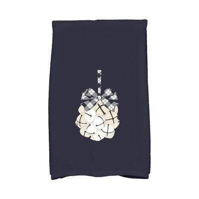 Jingle Bells Hand Towel Color: Blue