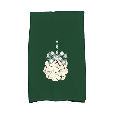 Jingle Bells Hand Towel Color: Green