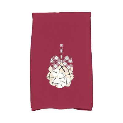 Jingle Bells Hand Towel Color: Cranberry