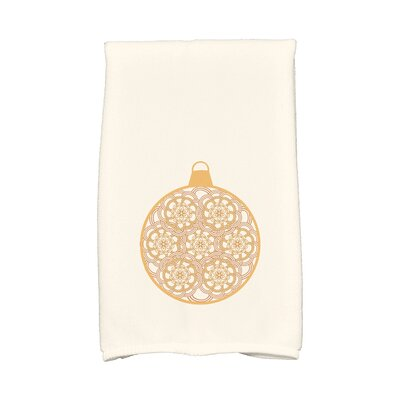 Snowflake Bulb Hand Towel Color: Gold