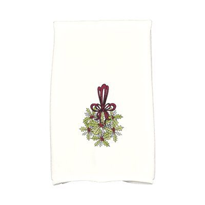 Sheatown Traditional Mistletoe Hand Towel Color: Light Green/Red/White