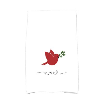 Cornwall Noel Bird Hand Towel Color: Red
