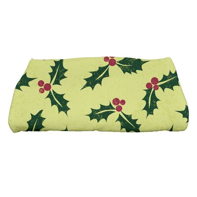 Allover Holly Bath Towel Color: Light Green