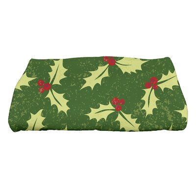 Allover Holly Bath Towel Color: Green
