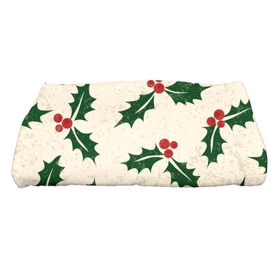 Briese Allover Holly Bath Towel Color: Cream