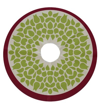 Holiday Wishes Gate Wreath Decorative Holiday Tree Skirt Color: Light Green