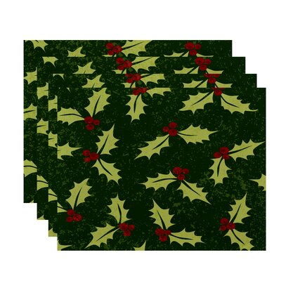 Beauchamp Square Jump for Joy Allover Holly Placemat