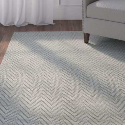 Honesdale Gray Area Rug Rug Size: 5 x 8