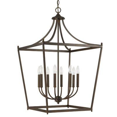 Brickyard 8-Light Foyer Pendant Finish: Burnished Bronze