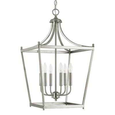 Brickyard 6-Light Foyer Pendant Finish: Brushed Nickel