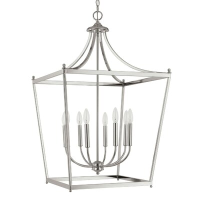 Brickyard 8-Light Foyer Pendant Finish: Polished Nickel