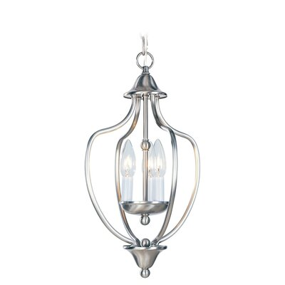 Williams 3-Light Convertible Foyer Pendant Finish: Brushed Nickel