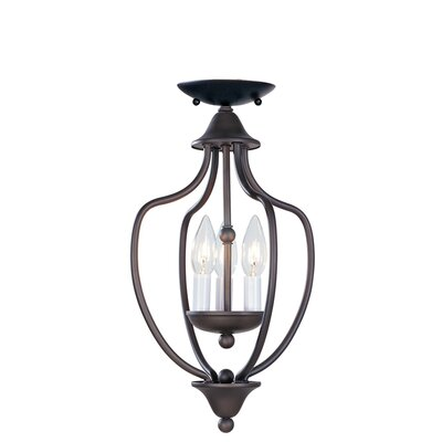 Williams 3-Light Convertible Foyer Pendant Finish: Bronze