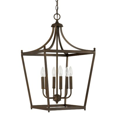 Brickyard 6-Light Foyer Pendant Finish: Burnished Bronze